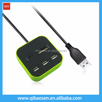 2016 best selling Combo-USB 2.0 Card reader+USB 2.0 3 port HUB