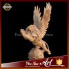 life size stone flying lion statues