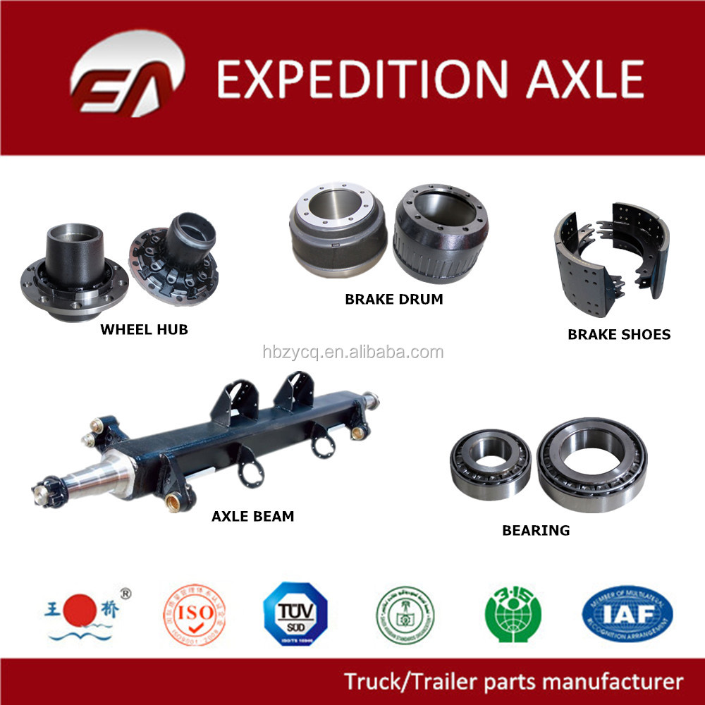 Heavy duty truck parts axles brake drums wheel hubs