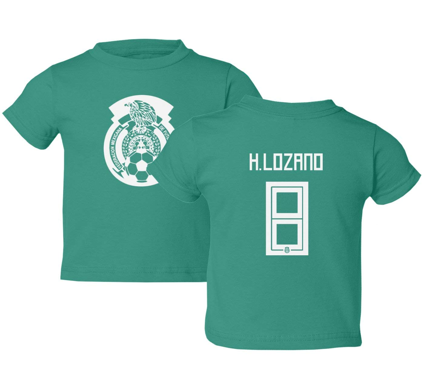 new concept d0075 2e4f3 Tcamp Mexico 2018 National Soccer #8 Hirving LOZANO World Championship  Little Kids Girls Boys Toddler T-Shirt