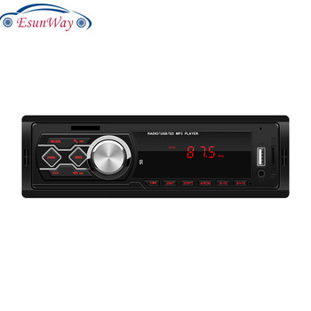 EsunWay 12V Universal Red Panel light Car Stereo MP3 Music Player FM Radio LCD AUX TF Card USB U Disk 1 DIN Car Radio Player