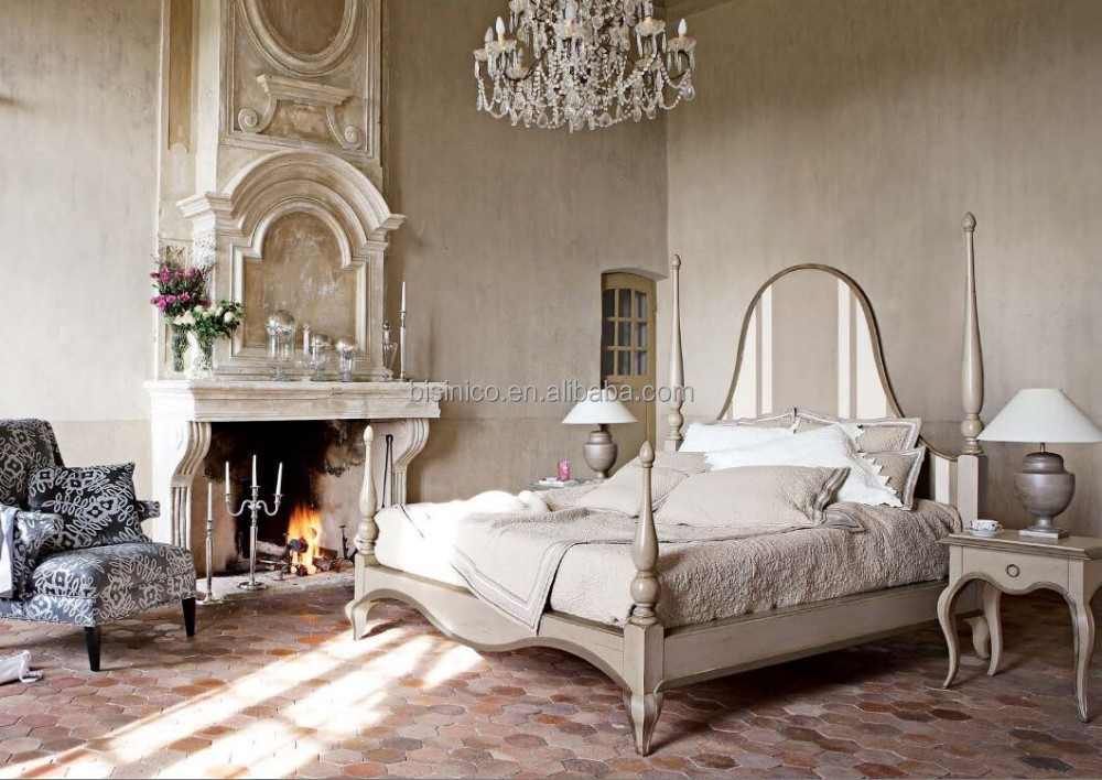 franz sisch provinz schlafzimmer eingerichtet hortense stilvolle retro himmelbett king size bett. Black Bedroom Furniture Sets. Home Design Ideas