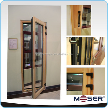 Moser Germany Style Aluminum Clad Wooden Exterior Double Door Single