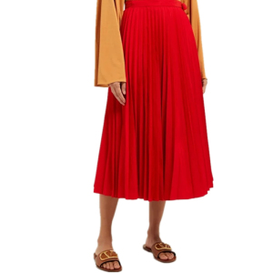 2019 New Arrival fashion Women bodycon red long Pleated gathered skirt