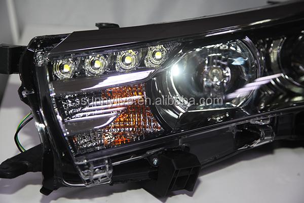 Car Headlight Bulb >> 2019 2014 2015 Year TOYOTA Corolla Altis LED Headlights Bi ...