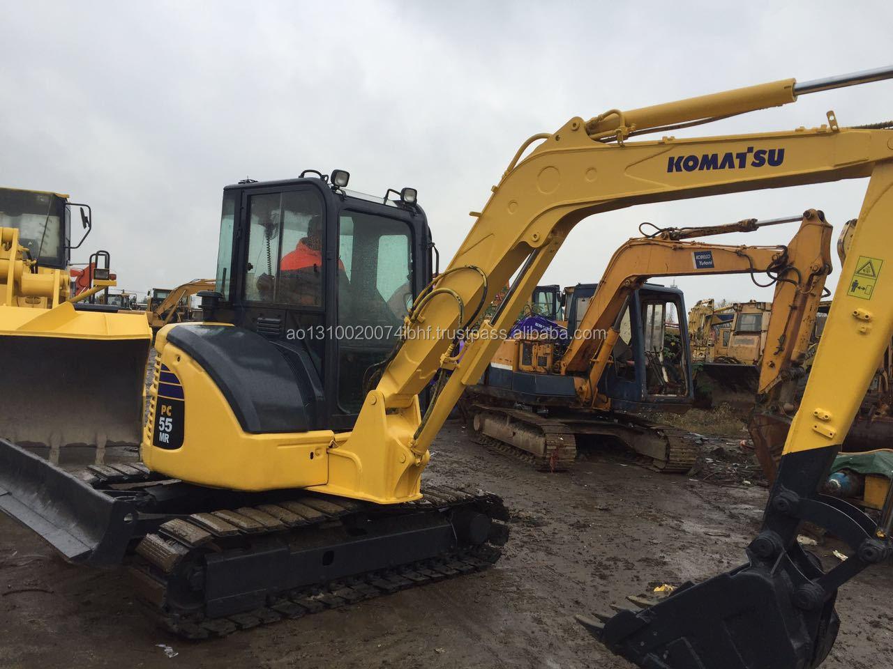 Usato Giapponese Mini Escavatore Komatsu PC55MR Digger Con Cingoli In Gomma/Komatsu PC35 PC40 PC55 PC60-7 PC50