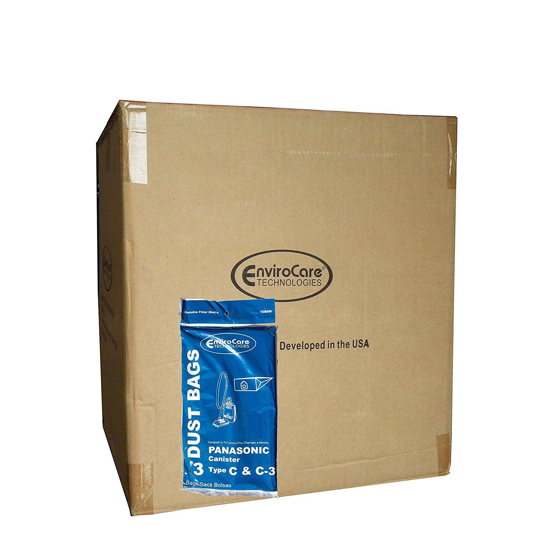 150 Panasonic Type C C-3 C3 Allergy Vacuum Bags, Canisters Vacuum Cleaners, MC-125P, MC125P, MC771, MC772, MC8310, MC8320, MC8330