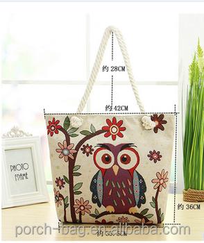 b3e683eb447 New Arrival Designer Handbags Thailand Printed Canvas Bag In Owl Pattern  Printing - Buy Thailand Printed Canvas Handbags,New Arrival Designer Canvas  ...