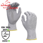SRSAFETY super strong liner palm coated PU cut resistant glove