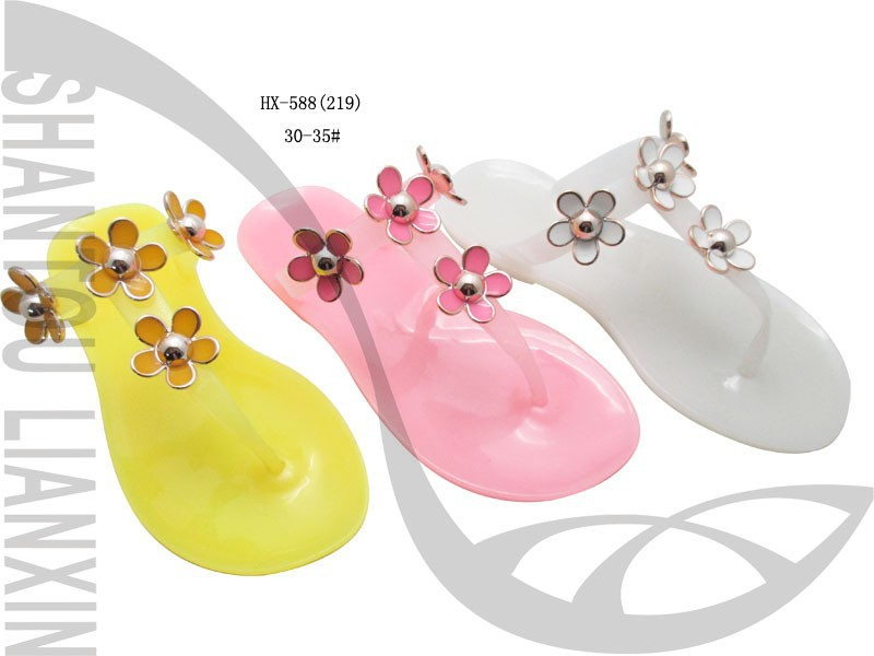 2015 Cute Jelly Shoe Baby Slipper Girl Slipper