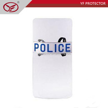PC riot shield sale/police equipment / Double Hand Using Police Riot Control plastic shield