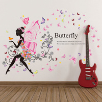 home decor 3d butterfly wing girls room wall stickers