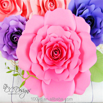 Decorative wedding pink giant handmade foam paper flowers buy decorative wedding pink giant handmade foam paper flowers mightylinksfo