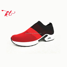 New design knitted upper high quality breathable men sport shoes