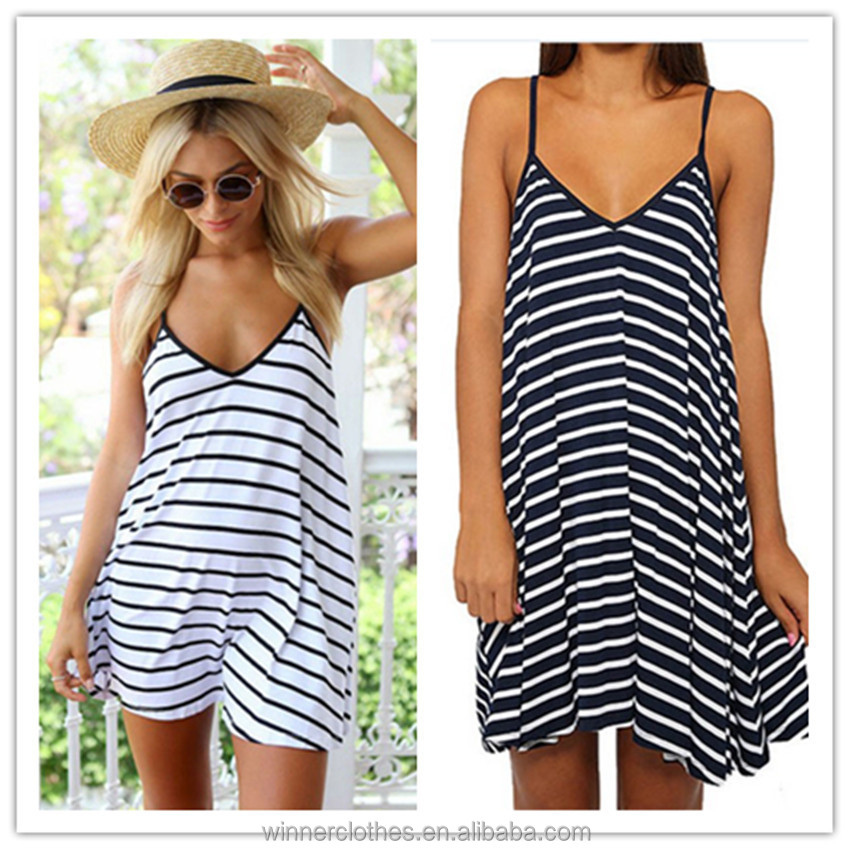 Private Label Latest Designs Backless Casual Women Summer Dress