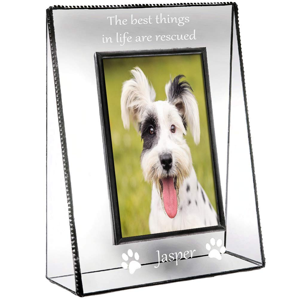 J Devlin Pic 319-46V EP594 Personalized Dog Picture Frame Engraved Tabletop 4 x 6 Vertical Photo Pet New Dog Owner