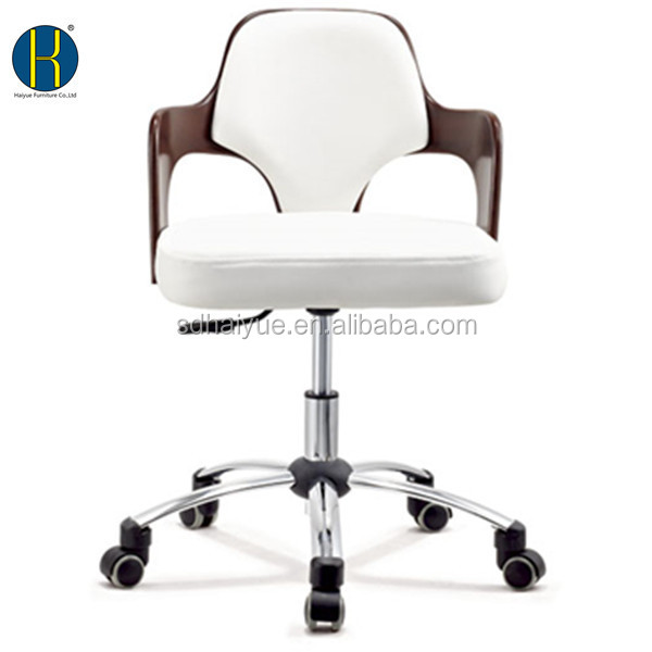 European style mid back office chair white leather ergonomic computer chair executive chair