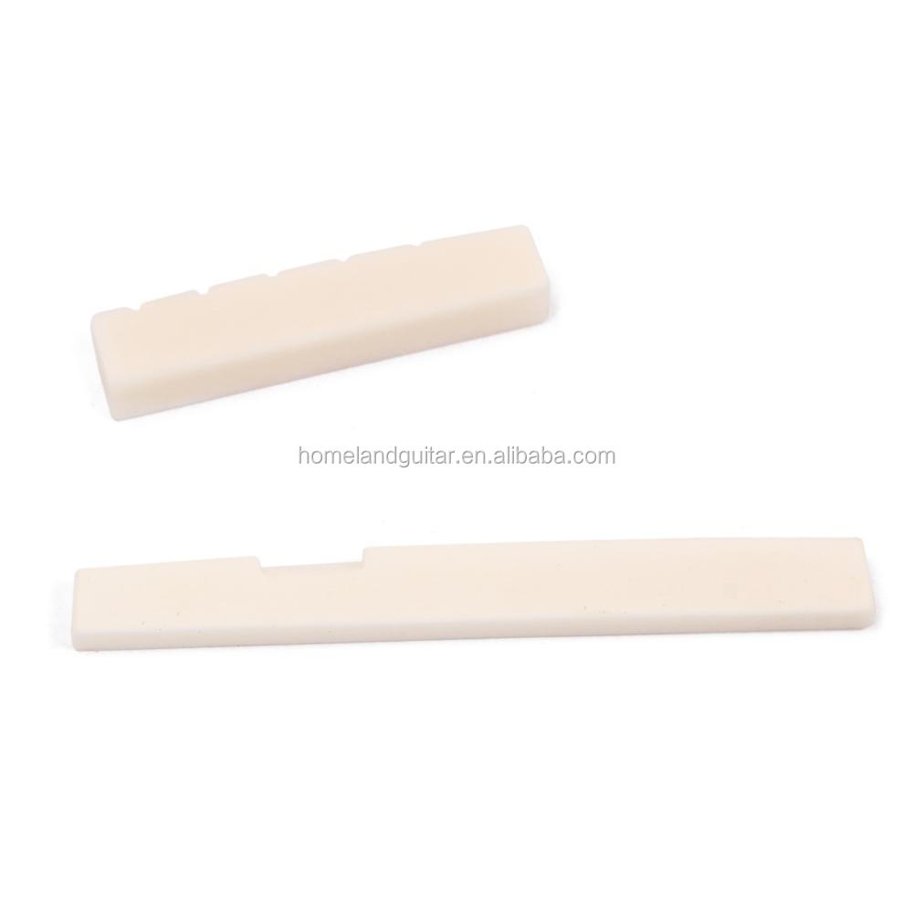 Bone Guitar 6 String Bridge Saddle Blank And Nut Set For Acoustic Guitar Musical Instruments