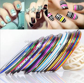 New Design Nail Art Tips Fake Nails Rolls Striping Tape Diy Nail