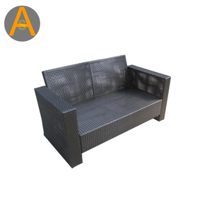 outdoor furniture two seater rattan sofa set metal frame patio bench seat sofas