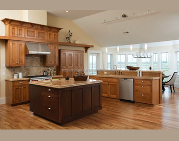 Custom made elegant solid pine wood lattice kitchen cabinet door