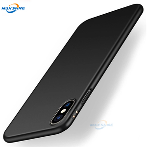 MaxShine 360 full cover matte pc hard case anti shock, housing matte black back cover for iphone6 plus x xs xr