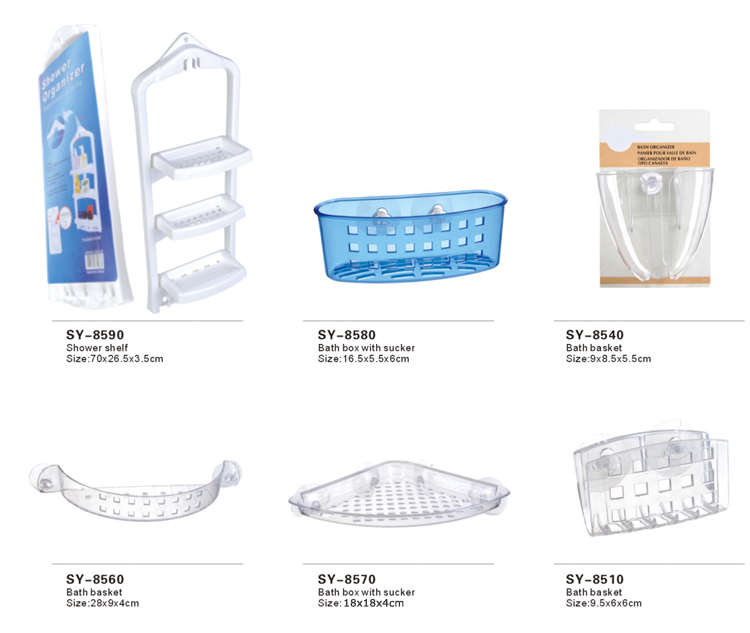 Multipurpose Storage 4 Layer Plastic Bathroom Rack For Home