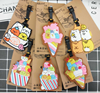 Free sample Summer cute soft rubber PVC luggage tag