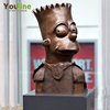 Cartoon Metal Bronze Simpson Bust Statue