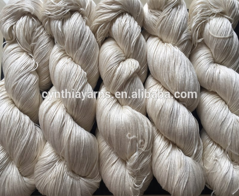 Undyed 100% Natural White Silk Hand Knitting Yarn (100g)