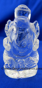 Crystal Quartz Hand Carved Ganesha