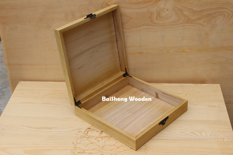 large wooden box with hinged lid wood tea box for sale
