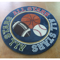 Seenyes Basketball Sport Theme Rugs Peripheral Rugs Round Rugs
