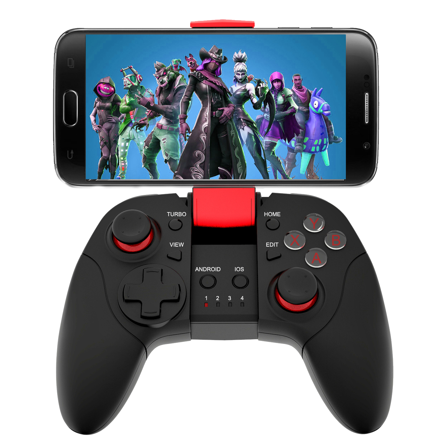 wholesale brand cellphone game controller for PUBG Fortnites, Red/blue/oem