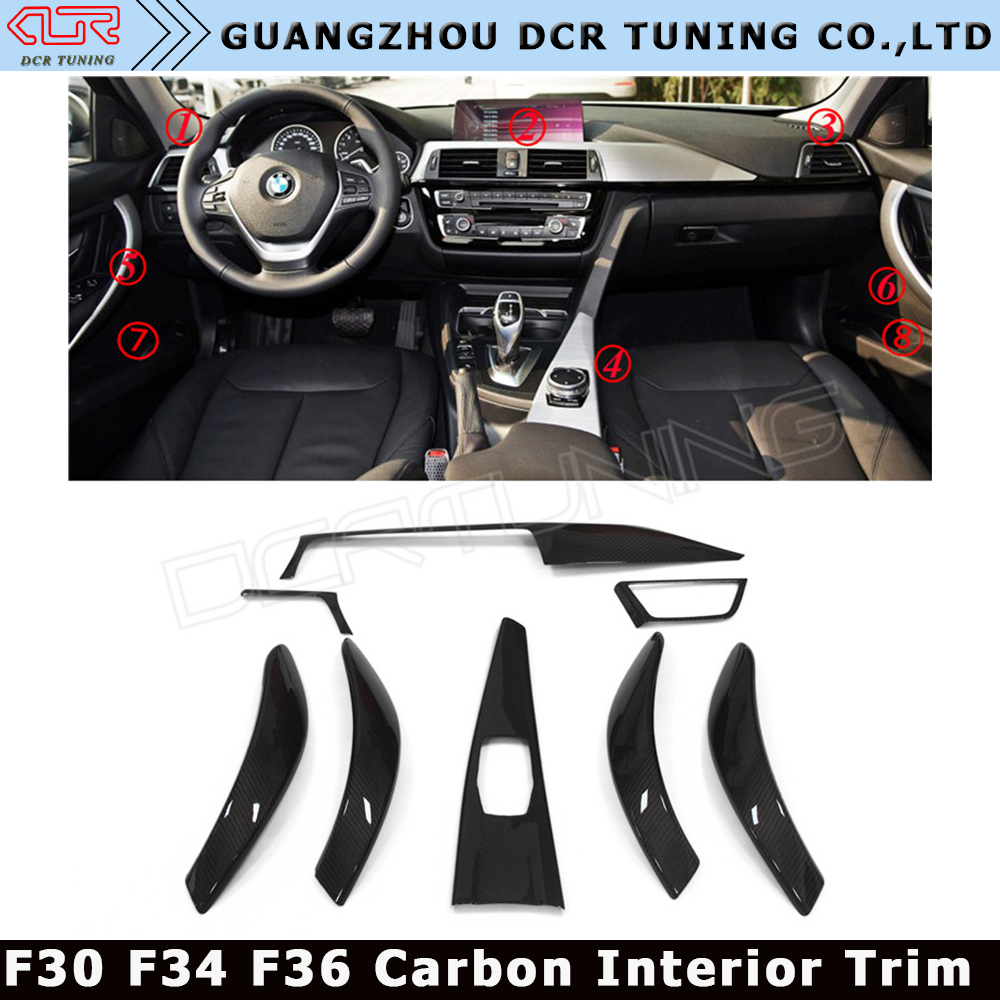 Good Quality Car Interiors For BMW F30 F34 F36 Carbon Fiber Trim High Version