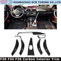 Good Quality Car Interiors For BMW F30 F34 F36 Carbon Fiber Trim High Version