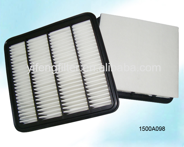 High Quality Air Filter 1500A098 for Mitsubishi L200 2.5, ISUZU D-Max 2.4 size: 204.5*204.5*67 mm