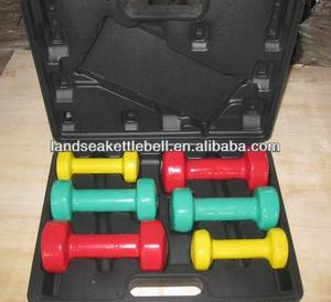 12kg vinyl dumbbell set with plasti box