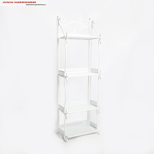 Chinese metal craft supplies of iron storage 4-tier corner rack