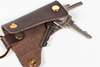 Handcraft Vegetable Leather One-Card Keychain Leather for Key Organizer