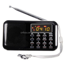 Mini Portátil LCD Digital <span class=keywords><strong>FM</strong></span> Radio Speaker/USB Cartão TF Mp3 Music Player/mp3 player de rádio <span class=keywords><strong>fm</strong></span>