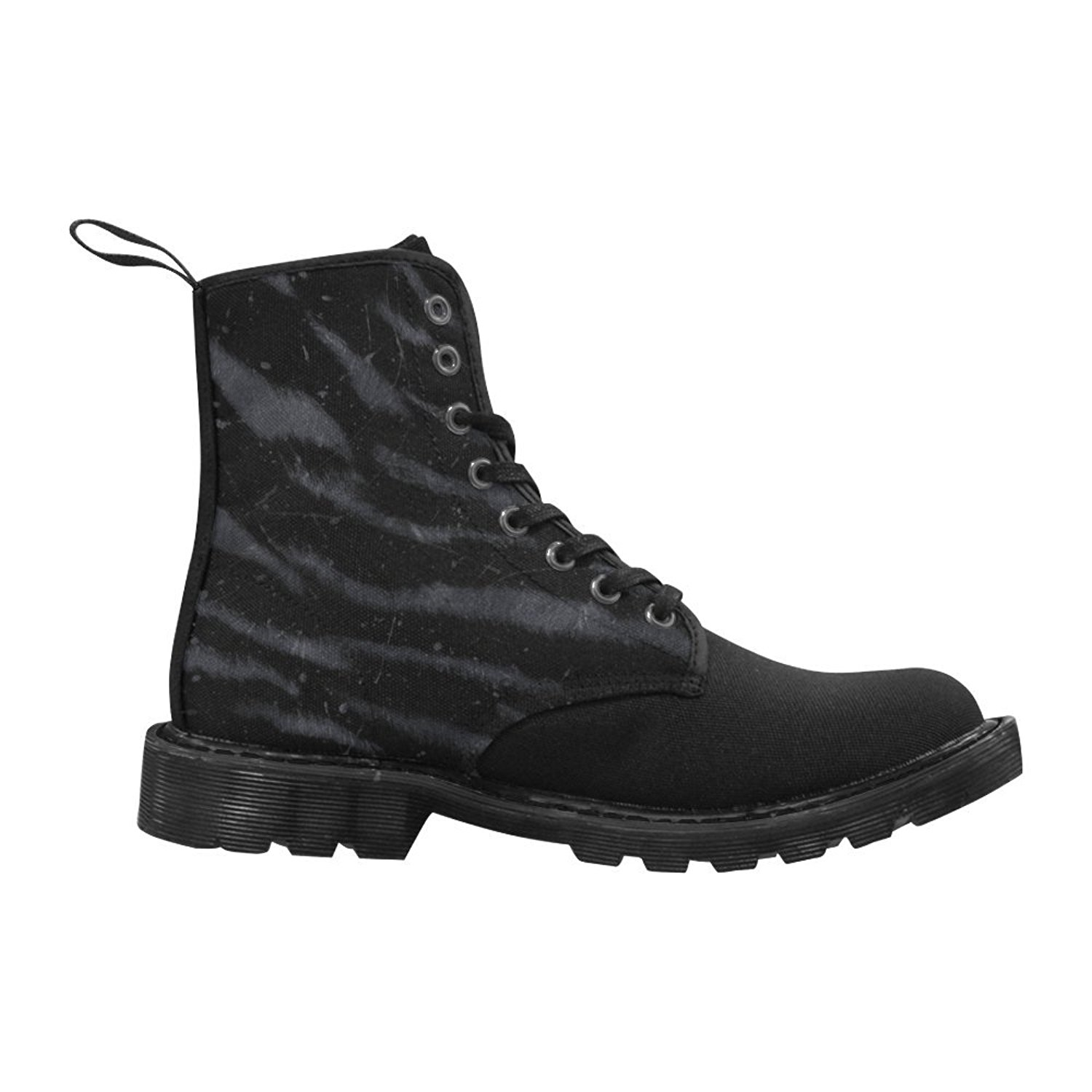 9f5201e4124 Get Quotations · Elliz Clothing Darkness Zebra Print Lace up Boots Gothic  Animal Print Combat Boots (Men s)
