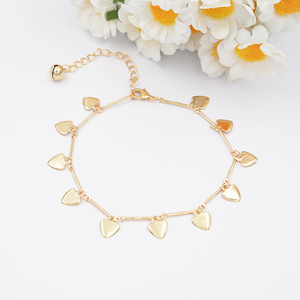 Alibaba China supplier wholesale chain gold plated anklet designs