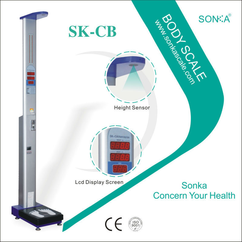 SK-CB health care products digital height sensor human weight scale factory
