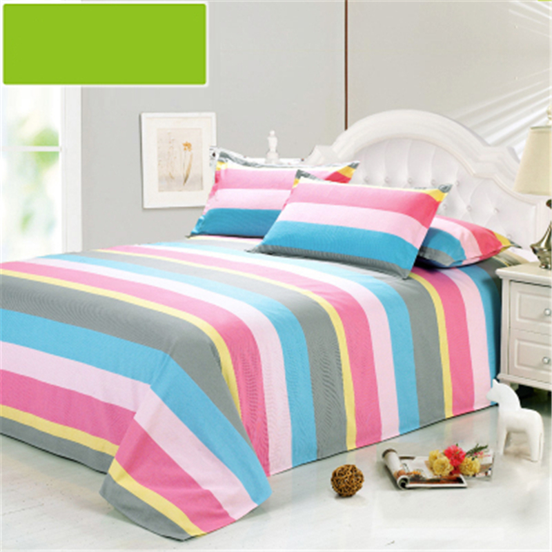 1pc fitted sheet mattress cover twin full queen king size 100 cotton bed sheets color stripe. Black Bedroom Furniture Sets. Home Design Ideas