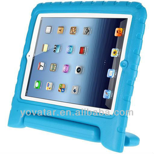 Kids safe Rugged Proof Durable Foam Case Handle Stand for New iPad 4 3 2 Black