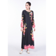 Maxi dress in karachi 2017 long sleeve floral maxi dress dubai style tall tube women sexy abaya dress