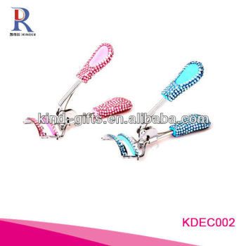 Wholesale New Design Rhinestone Jewelled Plastic Eyelash Curler For Lady Makeup Tools