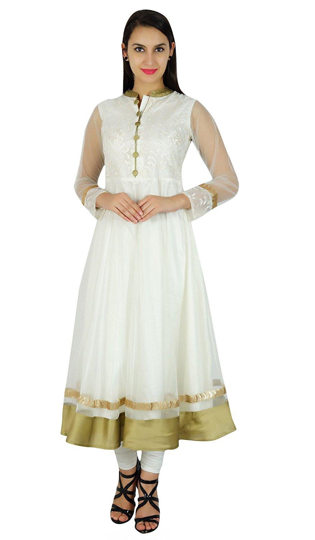 2586dfb5b1f6 Get Quotations · Bimba Women Classy Net Anarkali Kurta Kurti Long Bridal  Maxi Indian Custom Dress