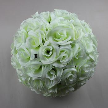 Ivory white silk rose wedding flower kissing ball for wedding buy ivory white silk rose wedding flower kissing ball for wedding mightylinksfo